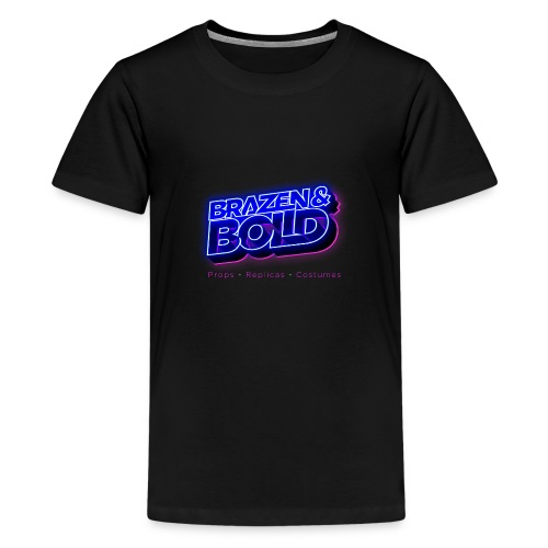 Brazen & Bold Productions Neon Logo - Teenage Premium T-Shirt