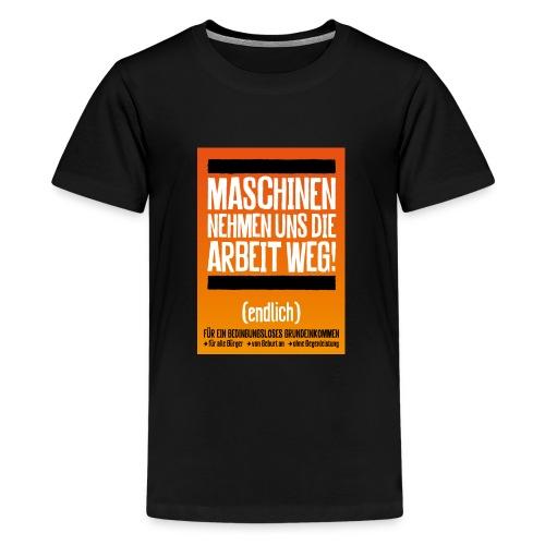 Arbeit von Maschinen - Teenager Premium T-Shirt