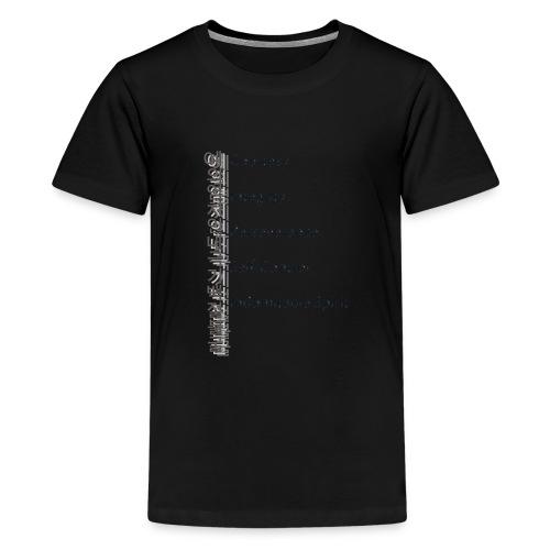 5 Tenets Taekwondo Kid's Hoodie 2 - Teenage Premium T-Shirt