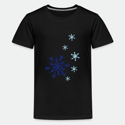 Snowflakes falling - Teenage Premium T-Shirt