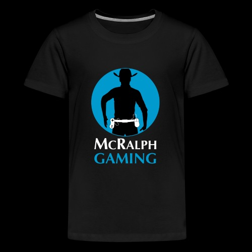 McRalph Gaming Logo 2 Whi - Teenager Premium T-Shirt