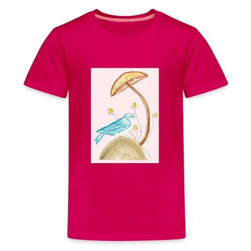 fungo con uccello - Maglietta Premium per ragazzi