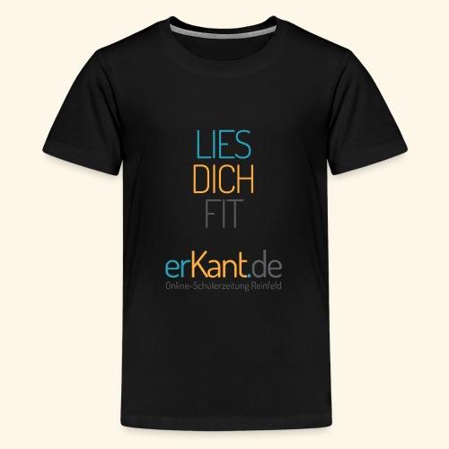 Lies dich fit mit Erkant.de - Teenager Premium T-Shirt