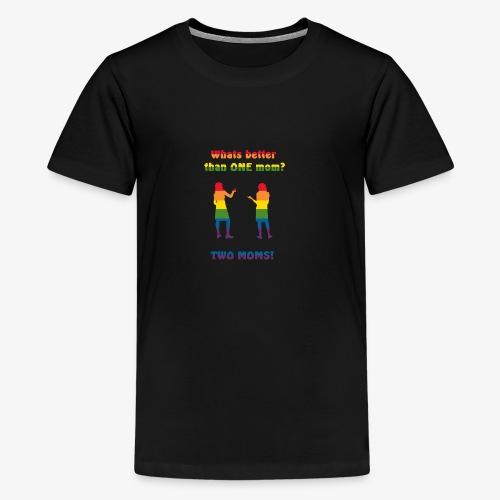 Två mammor - Pride - Premium-T-shirt tonåring