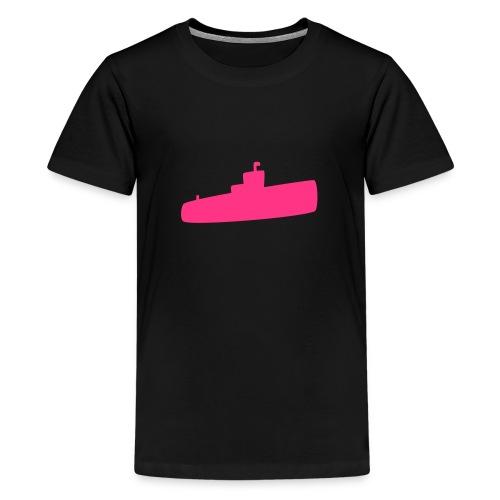 Rosa U-Boot - Teenager Premium T-Shirt