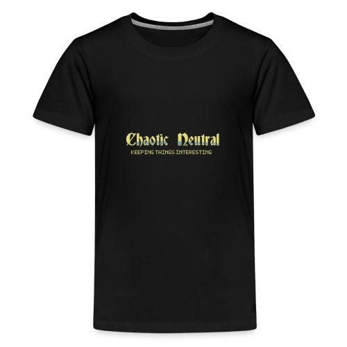 Chaotisch Neutral - Teenager Premium T-Shirt