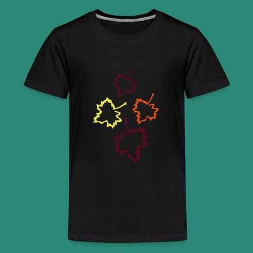 Herbstblätter 2 - Teenager Premium T-Shirt