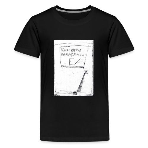 unbequem fernsehen - Teenage Premium T-Shirt