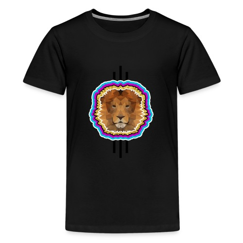 brave lion png - Teenager Premium T-Shirt