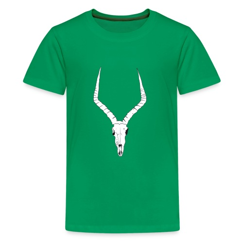 Antelope ANIMAL skull - Teenage Premium T-Shirt