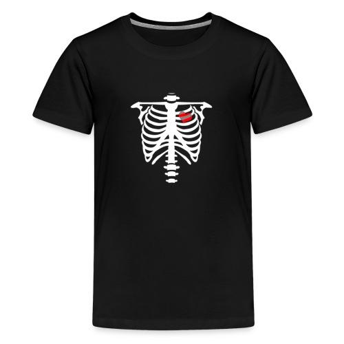 skull heart - T-shirt Premium Ado