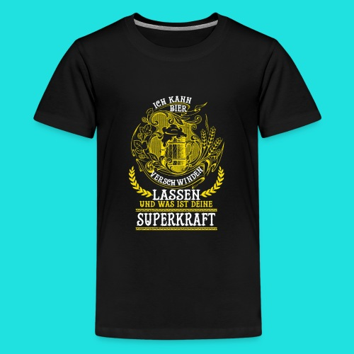Bier Superkraft - Teenager Premium T-Shirt