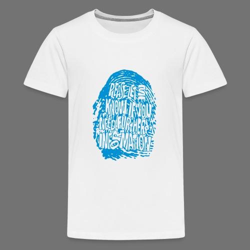 Fingerprint DNA (blue) - Teenage Premium T-Shirt