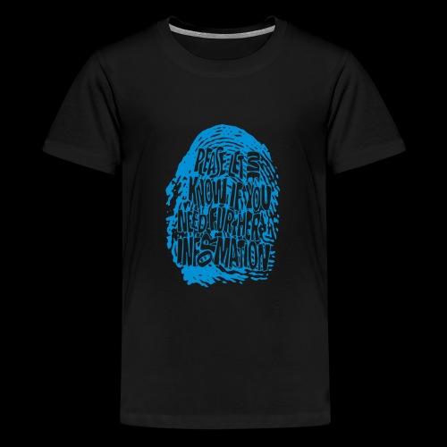 DNA, odcisków palców (niebieski) - Koszulka młodzieżowa Premium