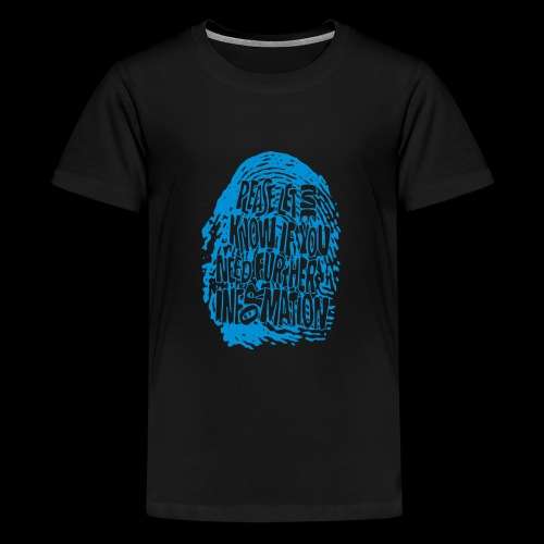 Fingerprint DNA (blue) - Teenager Premium T-Shirt