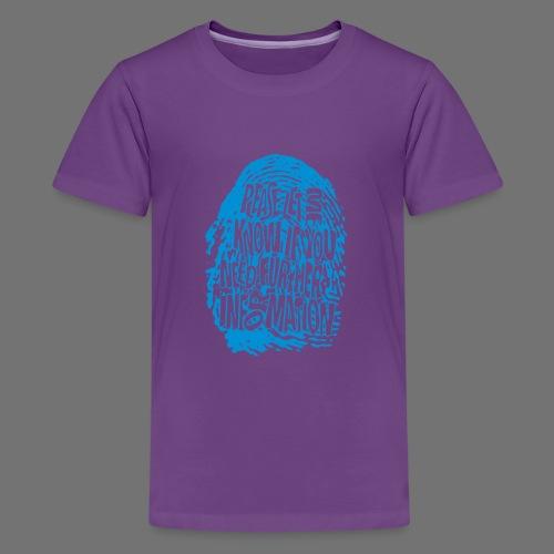Fingerprint DNA (blue) - Teenager Premium T-Shirt