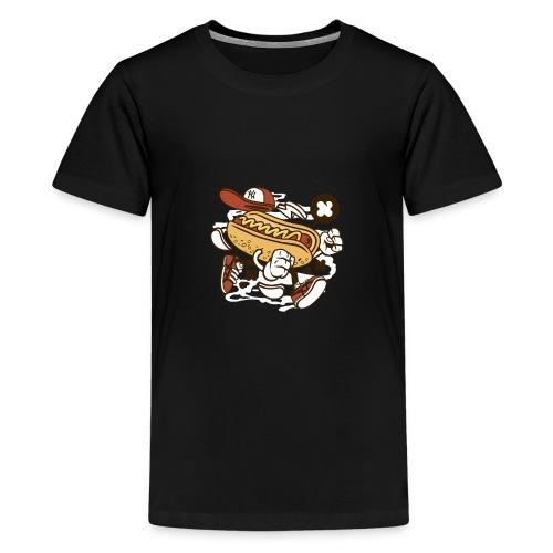 Crazy Hot Dog - T-shirt Premium Ado