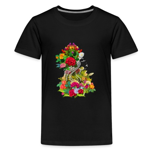 Lady flower - T-shirt Premium Ado