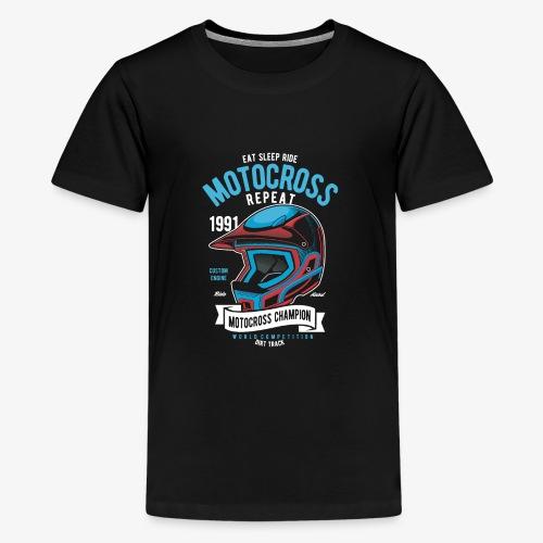 Casque de champion de motocross - T-shirt Premium Ado