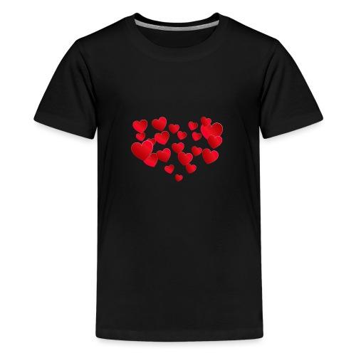 Heart T-Shirt - Teenage Premium T-Shirt