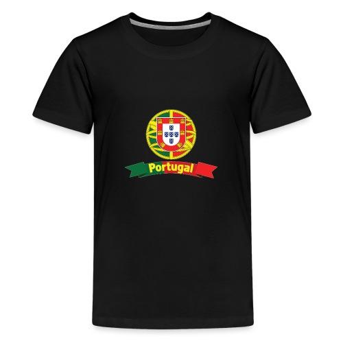 Portugal Campeão Europeu Camisolas de Futebol - Teenage Premium T-Shirt