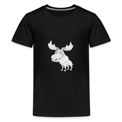 Albino elg - Teenager premium T-shirt