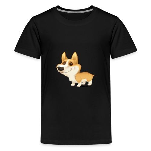 Corgi - Premium T-skjorte for tenåringer