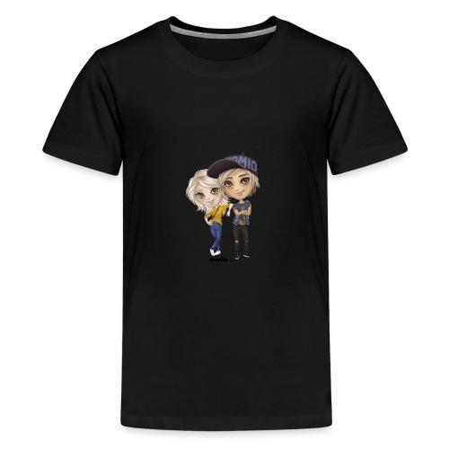Emily ja Lucas - Teinien premium t-paita