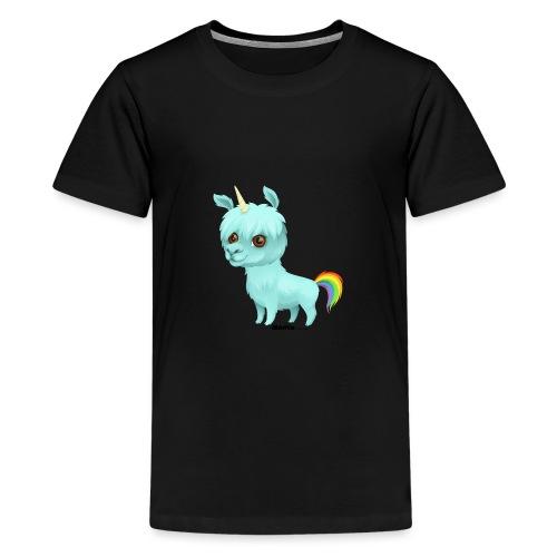 Llamacorn - Premium T-skjorte for tenåringer