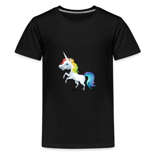 Rainbow yksisarvinen - Teinien premium t-paita