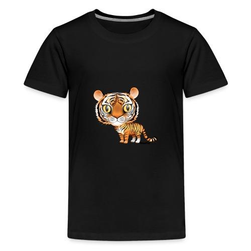 Tiger - Premium T-skjorte for tenåringer