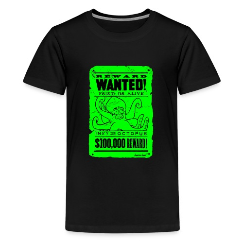 Wanted Inky the Octopus by Francisco Evans ™ - Teenager Premium T-Shirt
