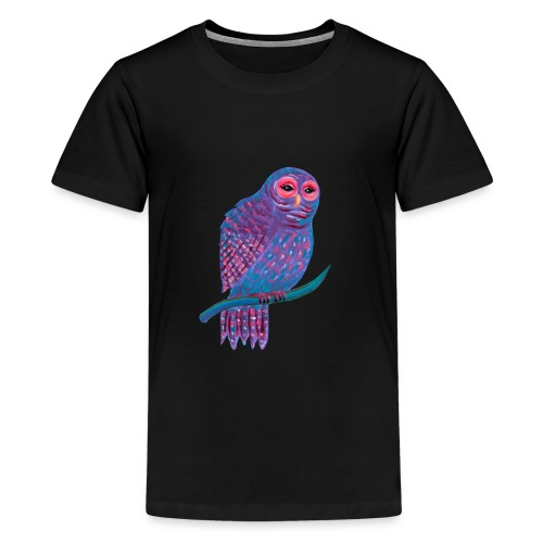 Söpö Violetti Pöllö - Teinien premium t-paita