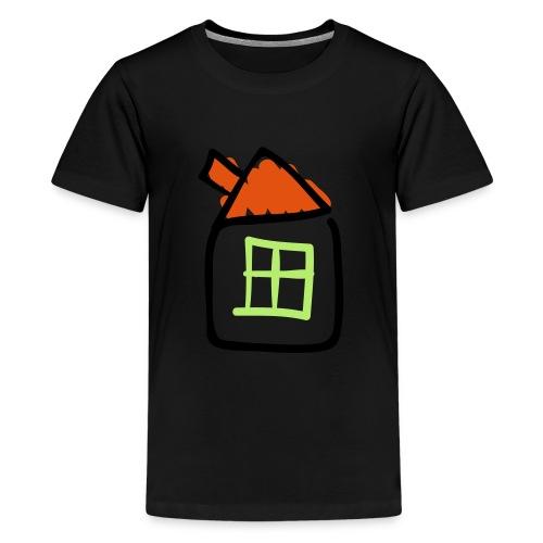 House Line Drawing Pixellamb - Teenager Premium T-Shirt