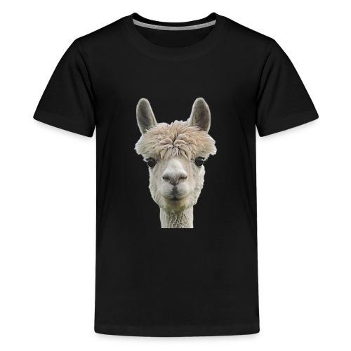 Alpaka Lama Kamel Peru Anden Südamerika Wolle - Teenager Premium T-Shirt