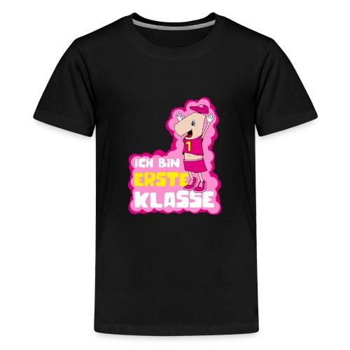 Ich bin erste Klasse - Mädchen rosa - Teenager Premium T-Shirt