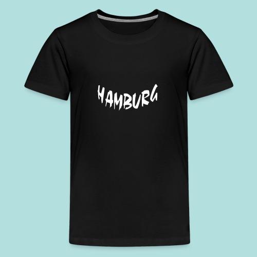 Hamburg weiß bogen unten - Teenager Premium T-Shirt