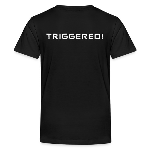 White Negant logo + TRIGGERED! - Teenager premium T-shirt