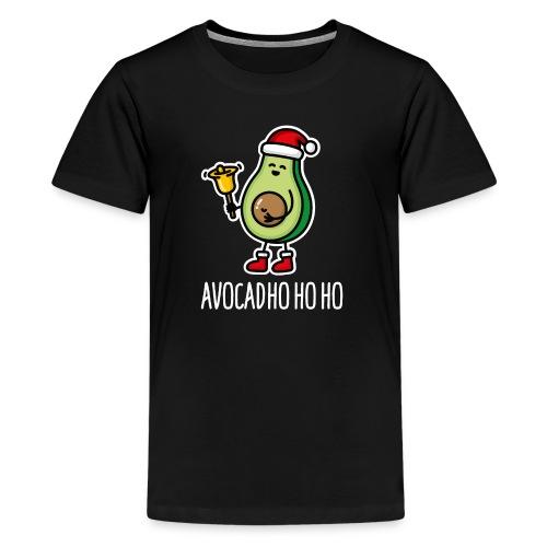 Avocad ho ho ho avocado Santa Claus pun keto diet - Teenage Premium T-Shirt
