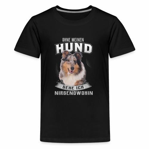 Collie,Hunde Hundemotiv - Teenager Premium T-Shirt