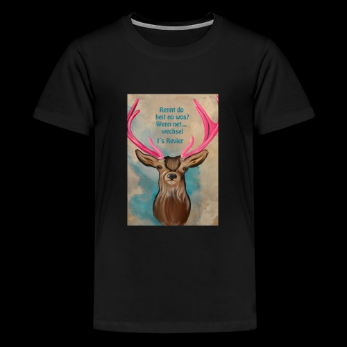 hugo rennt - Teenager Premium T-Shirt