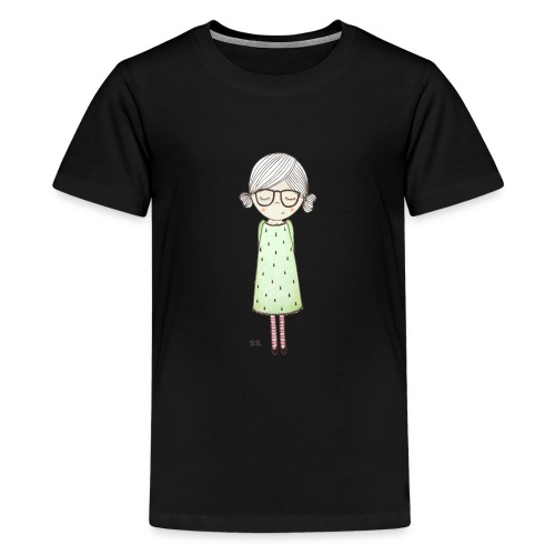 meisje met bril - Teenager Premium T-shirt