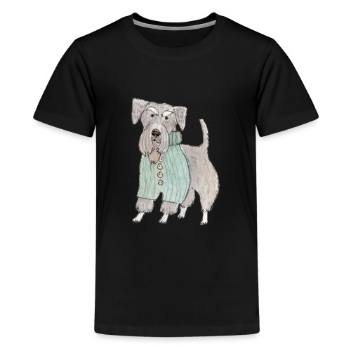 schnauzer with sweater - Teenager premium T-shirt