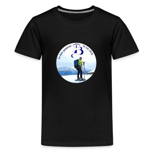 Logo cartone ciaspole - Maglietta Premium per ragazzi