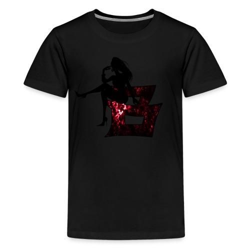 Sitting Woman Silhouette 2 png - Teenager Premium T-Shirt