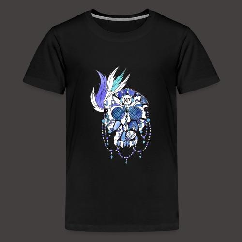 CRANE DENTELLE BLEU FOND NOIR - T-shirt Premium Ado