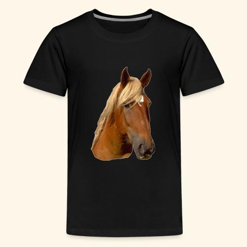 Horse Head - Teenage Premium T-Shirt