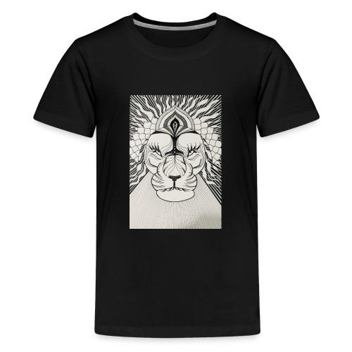 MandalArt Design - Lion - Teenager Premium T-shirt