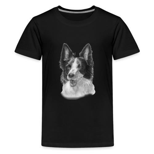 border collie 2 - Teenager premium T-shirt