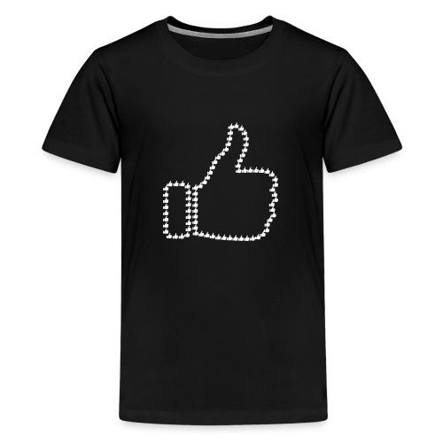 Zustimmung aus Daumen - Teenager Premium T-Shirt
